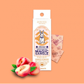 [Magic Gargle] Solid Chewing Gargle _ 18 Peach Flavors [Individually Packaged] _ Made in KOREA