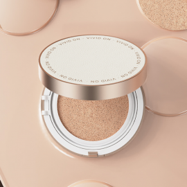 [VIVID ON] Cover Layering Change Cushion _ Makeup Base and Fixer, Long Lasting Moisturizing Brightening Cushion Foundation Glow with UV Protection_ Made in KOREA