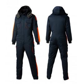 [Heidi] SJ-5 color / orange winter suzuki_ hoody removable, waist zipper, winter work clothes, dress, maintenance clothes