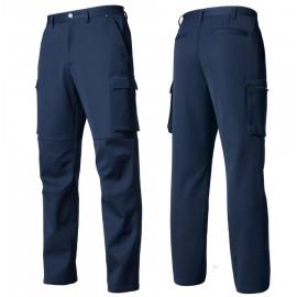 [Heidi] ZB-P1959 gaberdine fabric pants NAVY_ winter pants, work clothes, office clothes, work clothes, group clothes