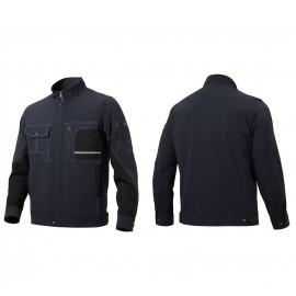 [Heidi] ZB-J2005 Melange Striped Pattern Jacket_ All Seasons Wear, High-End Workwear, Office Wear, Workwear, Group Wear