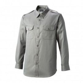 [Heidi] K-08 gray guard suit shirt (top)_ general type work clothes, office clothes, work clothes, group clothes