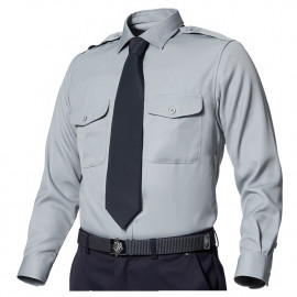 [Heidi] ZB-Y1044 light gray shirt (top) guard clothes_ general type work clothes, office clothes, work clothes, group clothes