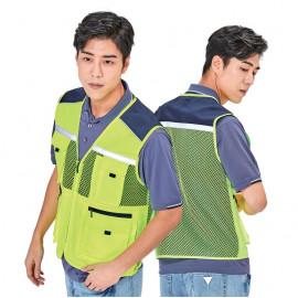 [Heidi] PS-V114 reflection, mesh vest, light-white vest