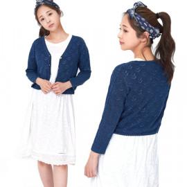 [Spring Bom] Denim Indigo Bolero Knit_ Made in KOREA