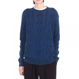 [Spring Bom] Cable Indigo Knit Sweater_ Made in KOREA