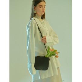 [Floribus] OLENTIA Black _ Bag, Women bags, Cross-Bag, Handbag, Purse, Mini-Bag, Shoulder bag, Natural Cowhide_ Made in KOREA