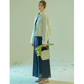 [Floribus] OLENTIA White _ Bag, Women bags, Cross-Bag, Handbag, Purse, Mini-Bag, Shoulder bag, Natural Cowhide_ Made in KOREA