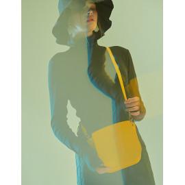 [Floribus] OLENTIA Yellow _ Bag, Women bags, Cross-Bag, Handbag, Purse, Mini-Bag, shoulder bag, Natural Cowhide_ Made in KOREA
