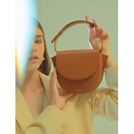 [Floribus] BULLA Brown _Handbag, Purse, Mini-Bag, Tote bag, Women`s bags_ Made in KOREA