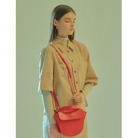 [Floribus] TEGO Red _ Handbag, Mini-Bag, Women's bag, Cross-Bag, Shoulder bag, Natural Cowhide_ Made in KOREA