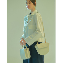 [Floribus] TEGO White _ Handbag, Mini-Bag, Women's bag, Cross-Bag, Shoulder bag, Natural Cowhide_ Made in KOREA