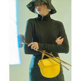 [Floribus] TEGO Yellow _ Handbag, Mini-Bag, Women's bag, Cross-Bag, Shoulder bag, Natural Cowhide_ Made in KOREA