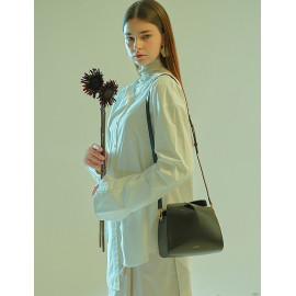[Floribus] CAPUT Black_ Handbag, Purse, shoulder-bag, Women`s bags, Mini-Bag, Natural Cowhide_ Made in KOREA