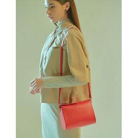 [Floribus] CAPUT Red _ Women`s bags, Handbag, Purse, Mini-Bag, Shoulder bag, Natural Cowhide_ Made in KOREA