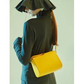 [Floribus] CAPUT Yellow _ Women`s bags, Handbag, Purse, Mini-Bag, Shoulder bag, Natural Cowhide_ Made in KOREA