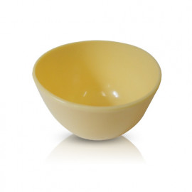 [skindom] rubber bowl (middle) - yellow 500CC _ skin care shop