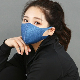[NICEKOREA] Copper Sporty Blue Jeans Mask_Antibacterial 99.9%, Cooper Fabric, Fashion Mask, Washable Fabric Mask _ Made in KOREA