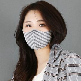 [NICEKOREA] Copper Mono Grey mask_Antibacterial 99.9%, Copper Fabric, Fashion Mask, Washable Fabric Mask _ Made in KOREA
