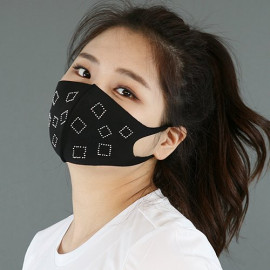 [NICEKOREA] Jurasil Fashion Mask, Square Cubic_Anti-bacterial 99.9%, Celebrity Mask, Washable Fabric Mask _ Made in KOREA