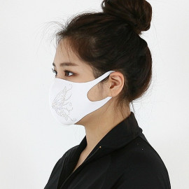 [NICEKOREA] Jurasil Fashion Mask, Butterfly Cubic_Anti-bacterial 99.9%, Celebrity Mask, Washable Fabric mask _ Made in KOREA