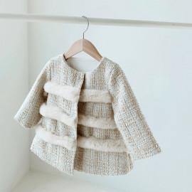 [La Clarte Atelier] gold tweed coat _ Baby clothes, children's clothes, baby dresses, kids dress, _ Made in KOREA