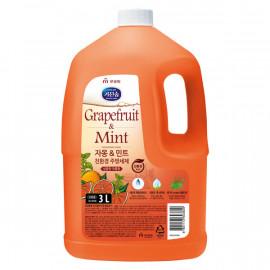 [MUKUNGHWA] KICHENSOAP Grapefruit n Mint Dishwashing Liquid 3L_ Kitchen Detergents, Dishwashing Detergents, Eco-friendly