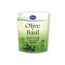 [MUKUNGHWA] KICHENSOAP Olive & Basil Dishwashing Liquid 1.2L_ Kitchen Detergents, Dishwashing Detergents, Eco-friendly