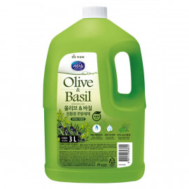 [MUKUNGHWA] KICHENSOAP Olive N Basil Dishwashing Liquid 3L_ Kitchen Detergents, Dishwashing Detergents, Eco-friendly