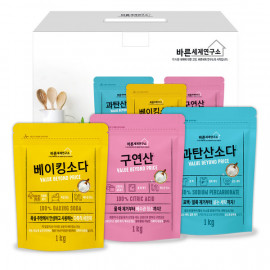 [MUKUNGHWA] Value Beyond Price 100% Gift Set _ Baking Soda, Citric Acid, Sodium Percarbonate