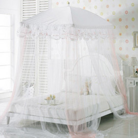 [Gallery Deco] Canopy Bed Mosquito Net Large Ribbon Pink