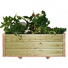[Gallery Deco] Moving DIY Preservative tree wooden pot, plants wide large, 3 level, indoor garden, made in Korea
