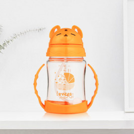 [I-BYEOL Friends] 280ml, Tritan, one touch juice cup, Orange _Gravity ball and is easy to drink,  Backflow prevention valve , FDA approved, free of BPA _ Made in KOREA