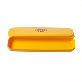 [I-BYEOL Friends] Spoon Case, Yellow _ Toddler and Kids, Toddler Utensils, Microwave Dishwasher Safe, BPA Free _ Made in KOREA