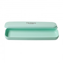 [I-BYEOL Friends] Spoon Case, Mint _ Toddler and Kids, Toddler Utensils, Microwave Dishwasher Safe, BPA Free _ Made in KOREA