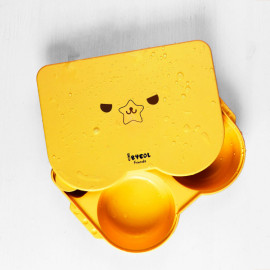 [I-BYEOL Friends] Lunch box, Yellow _ Infant, Toddler Lunch box, Divided Lunch box, Microwave Dishwasher Safe, BPA Free _ Made in KOREA