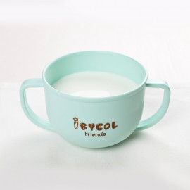 [I-BYEOL Friends] Two hands cup Mint_ Snack Catcher, Snack Container for Toddler and Baby, Portable Biscuits Candy Box, BPA Free, Made in Korea