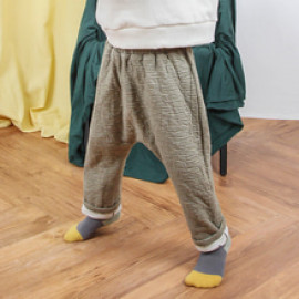 [BABYBLEE] D18375_Pattern Baggy Pants for Kids, Baby, Cotton 100%, Made In Korea