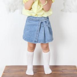 [BABYBLEE] D21322_Pleats Denim Skirt Leggings for Girls, Lace, Infant Dress, Kids Leggings, Made In KOREA