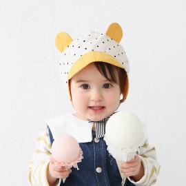 [BABYBLEE] A17101_Dot Pattern Bonnet for Infants, Baby, Cotton 100% _ Made in KOREA