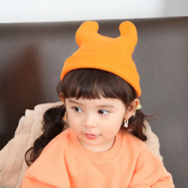 [BABYBLEE] A17201_Roll up Beanie for Infants, Baby, Beanie, hat, Cotton 100%, MADE IN KOREA