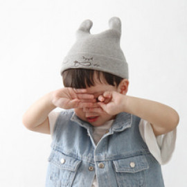 [BABYBLEE] A17202_Sleeping face Beanie for Infants, Baby, Beanie, hat, Cotton 100%, MADE IN KOREA