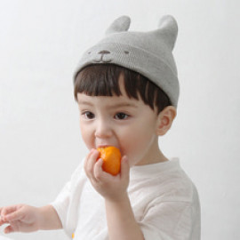 [BABYBLEE] A17203_Bear Beanie for Infants, Baby, Beanie, hat, Cotton 100%, MADE IN KOREA
