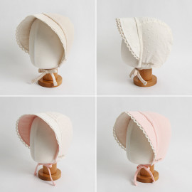 [BABYBLEE] A19101_Lacy Bonnet for Infants, Baby, Double-sided, Cotton 100%, Made in KOREA