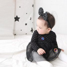 [BABYBLEE] D17208_Star Pattern Lacy Suit for Infants, Baby Dress, Made In Korea