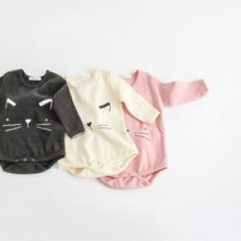[BABYBLEE] D17210_Cat Printed Suit for Infants, Cotton 100%, Made In Korea, Kids
