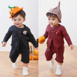 [BABYBLEE] D20295_Cardigan Overalls SET for Infants, Baby, Cardigan, Overalls,  MADE IN KOREA