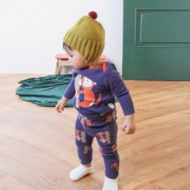 [BABYBLEE] D20442_Monkey Bodysuit and Leggings SET for Infants, Baby, Kids, Span Pants, MADE IN KOREA