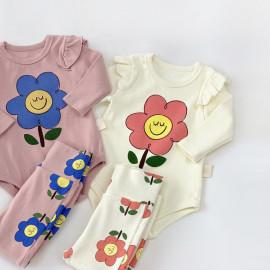 [BABYBLEE] D20443_Bodysuit and Leggings SET for Infants, Baby, Kids, Span Pants, MADE IN KOREA
