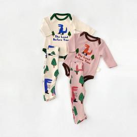 [BABYBLEE] D20444_Dinosaur Bodysuit and Leggings SET for Infants, Baby, Kids, MADE IN KOREA